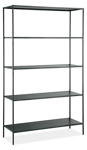 Slim Shelves in Natural Steel, alternative to wood shelves