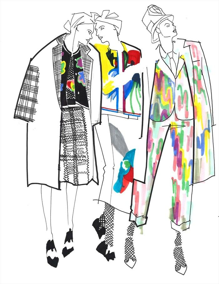Modeconnect.com - Thom Browne S/S15 Illustration by Julie Houts