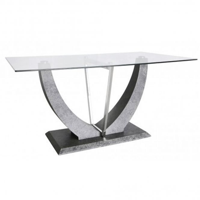 Conway Light Grey Dining Table Contemporary Dining Room