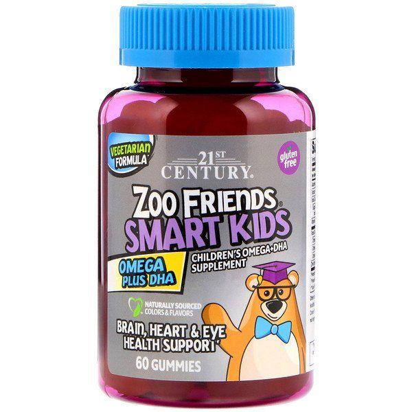 21st Century Zoo Friends Smart Kids Omega Plus Dha 60 Gummies Discontinued Item Smart Kids Kids Health Eye Health