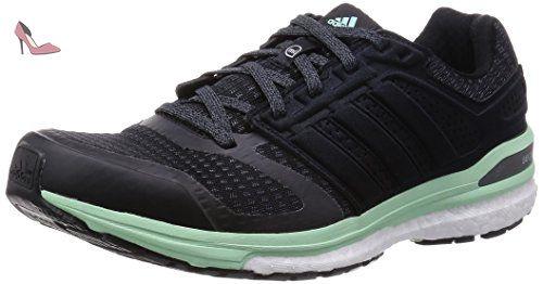adidas Supernova Sequence Boost 8 W, Chaussures de sport femme, Noir - Black (Core Black/Iron Metal./Frozen Green F15), 38 2/3 - Chaussures adidas (*Partner-Link)