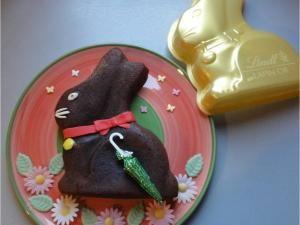 Mon petit lapin Or au chocolat ! [gateau Lindt]