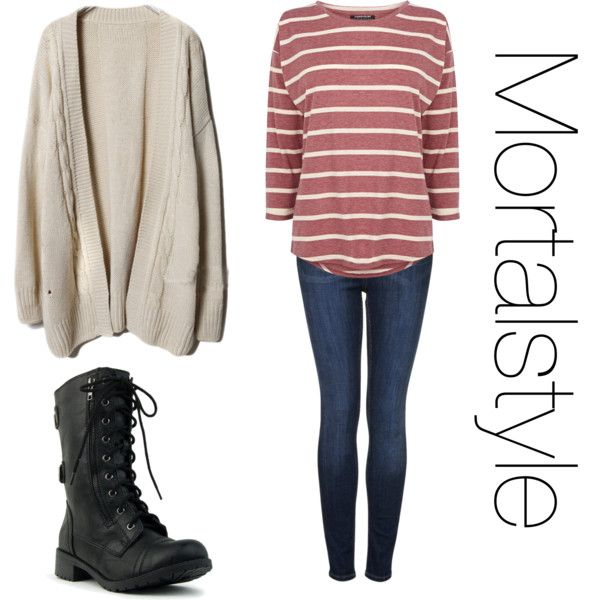 Clary fray inspired outfit for a cold day by tessgray on Polyvore