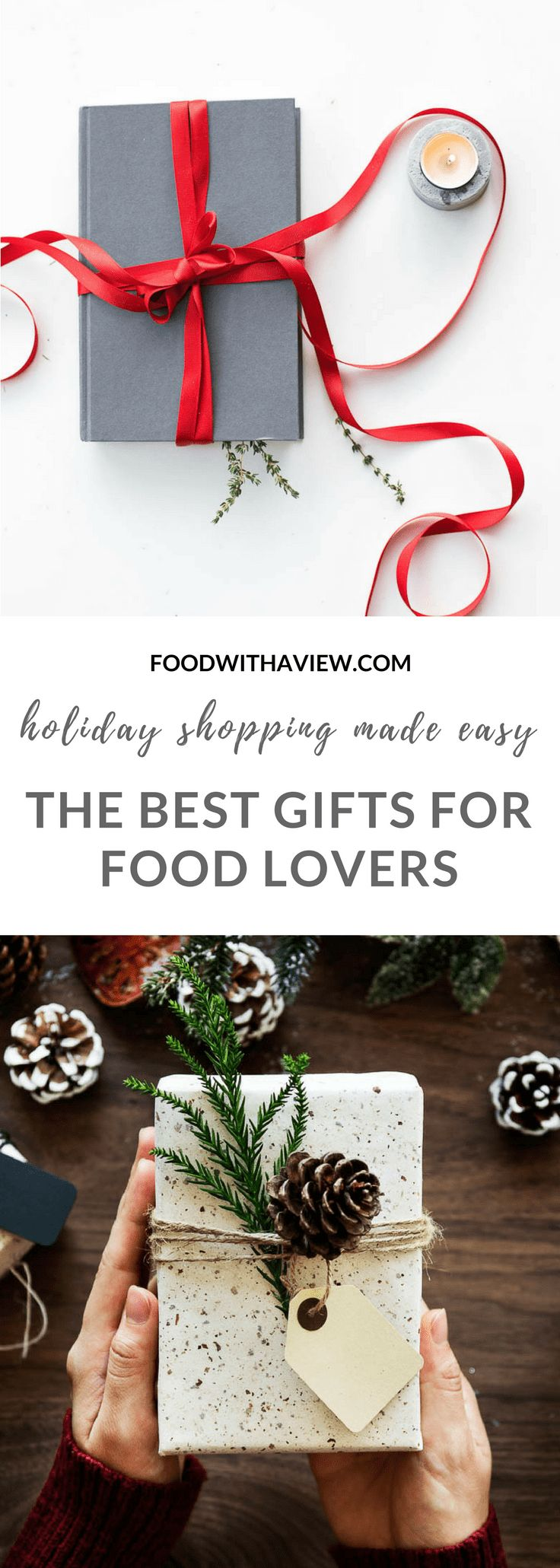 Holiday gifts for food lovers on foodwithaview.com