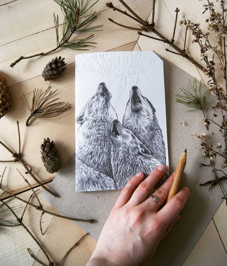 by @kcrm_crafts >>https://www.etsy.com/shop/KCRMcrafts<<  #illustration #pencil #art #sketch #doodle #drawing #howlingwolf #howling #wolf #wildlife #nature #naturelove #onmydesk #gift #woodpencil #wood #jotter #florafauna #kcrmcrafts #podlasie #poland #polska #ilustracja #rysunek #szkic #natura #journal #prezent