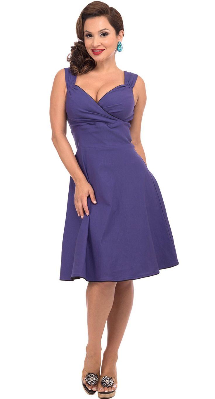 Steady Clothing Diva Swing Dress in Purple | Blame Betty