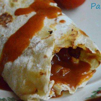 Tortilla z sosem pomidorowym/Tortilla with tomato sauce