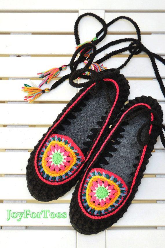 Mandala Boho Hippie zapatillas al aire libre pisos por JoyForToes