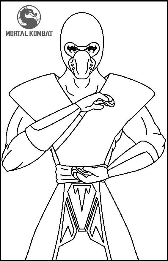 Fun Mortal Kombat Coloring Pages For Children Coloring Pages Mortal Kombat Fun