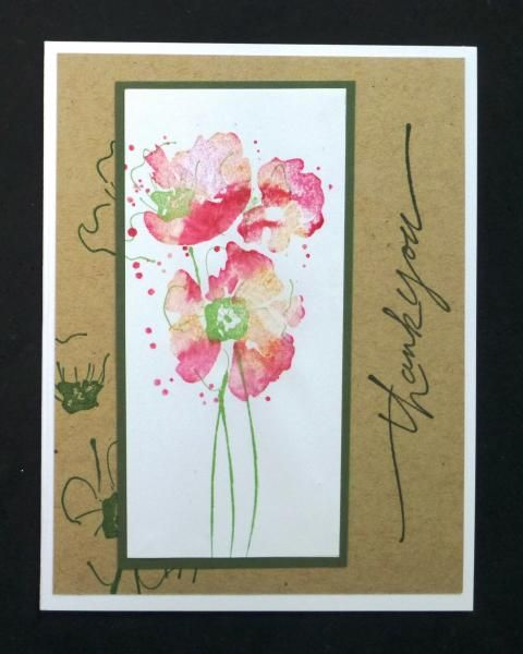 *IC439 Poppies Thank You by hobbydujour - Cards and Paper Crafts at Splitcoaststampers