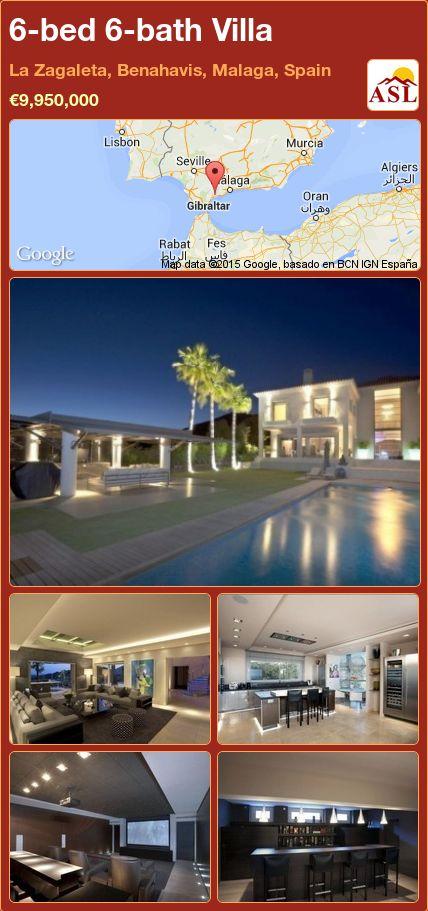 6-bed 6-bath Villa in La Zagaleta, Benahavis, Malaga, Spain ►€9,950,000 #PropertyForSaleInSpain