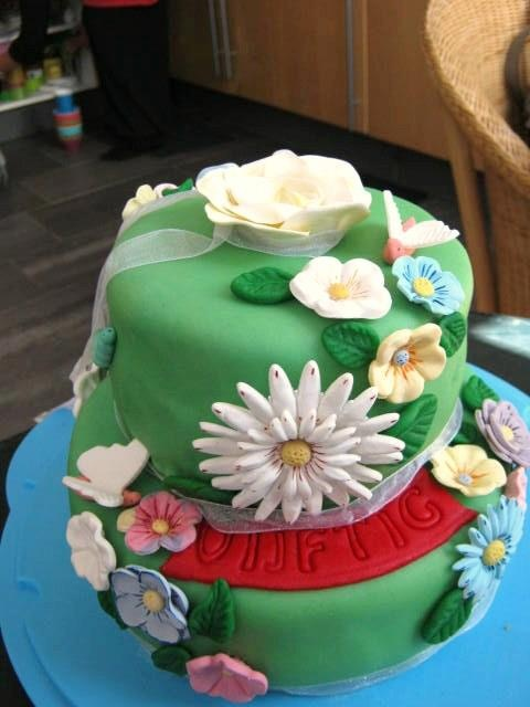 Fleurige taart