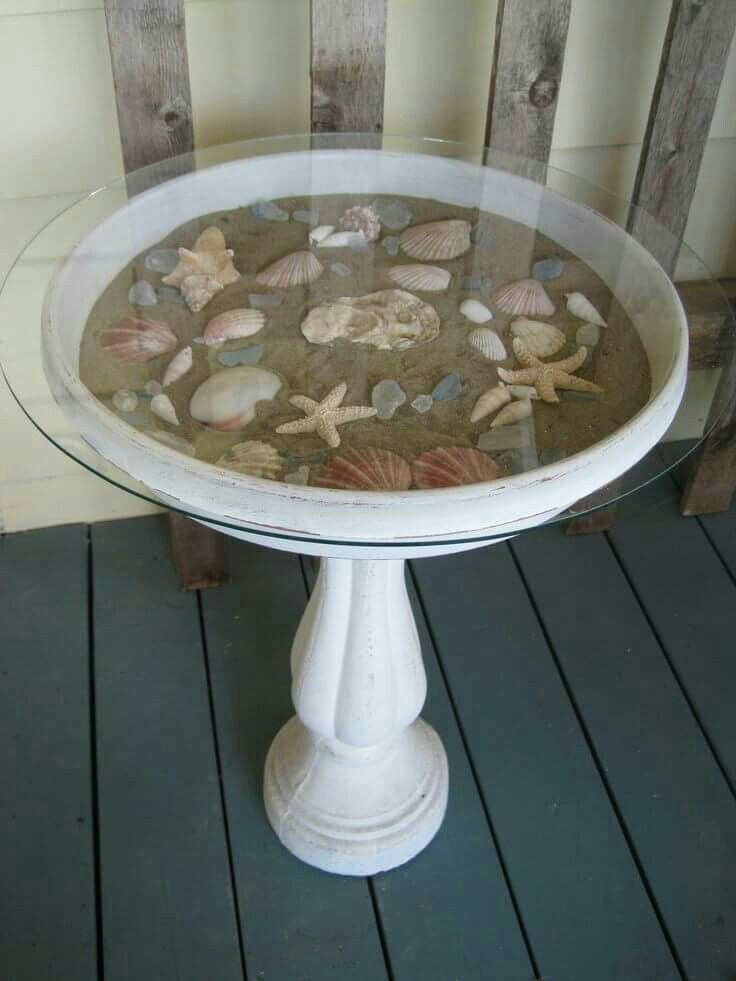 Birdbath Display Table