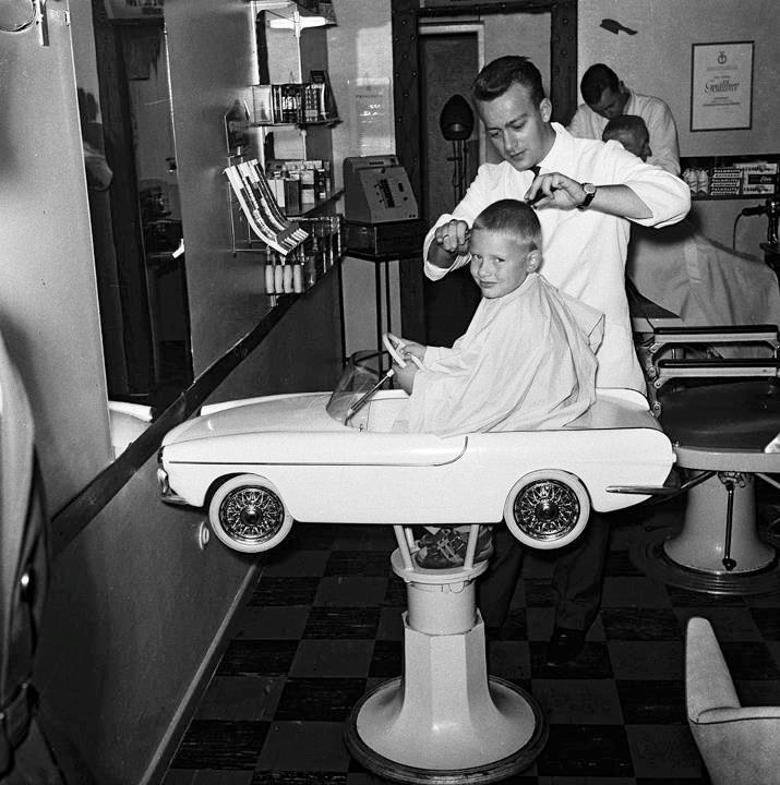 if anyone ever sees a volvo p 1800 kids barber chair please let me know this has got to be the coolest kids chair ever
