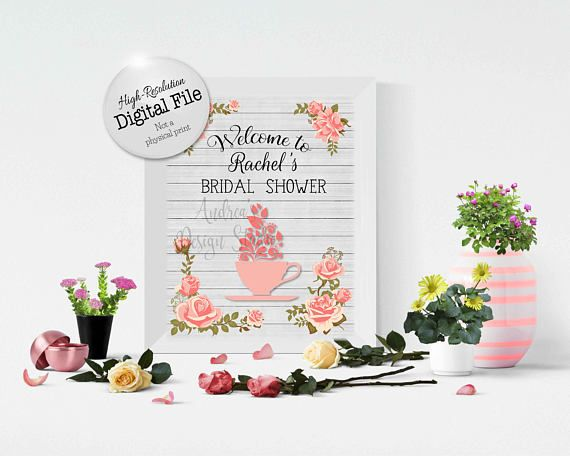 Bridal Tea Shower Sign Ready To Say I Do Bridal Party Shower