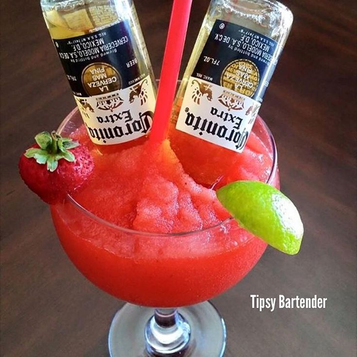 Strawberry margarita 2 coronita beers 2 cups of for Fish bowl drink tipsy bartender