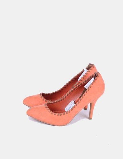 Zapato naranja trenzado Marypaz