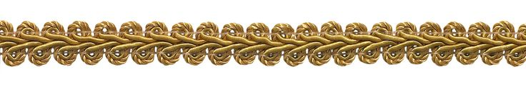 """10 Yard Value Pack of 1/2"""" Basic Trim French Gimp Braid, Style# FGS Color: GOLD - C4 (30 Ft)"""