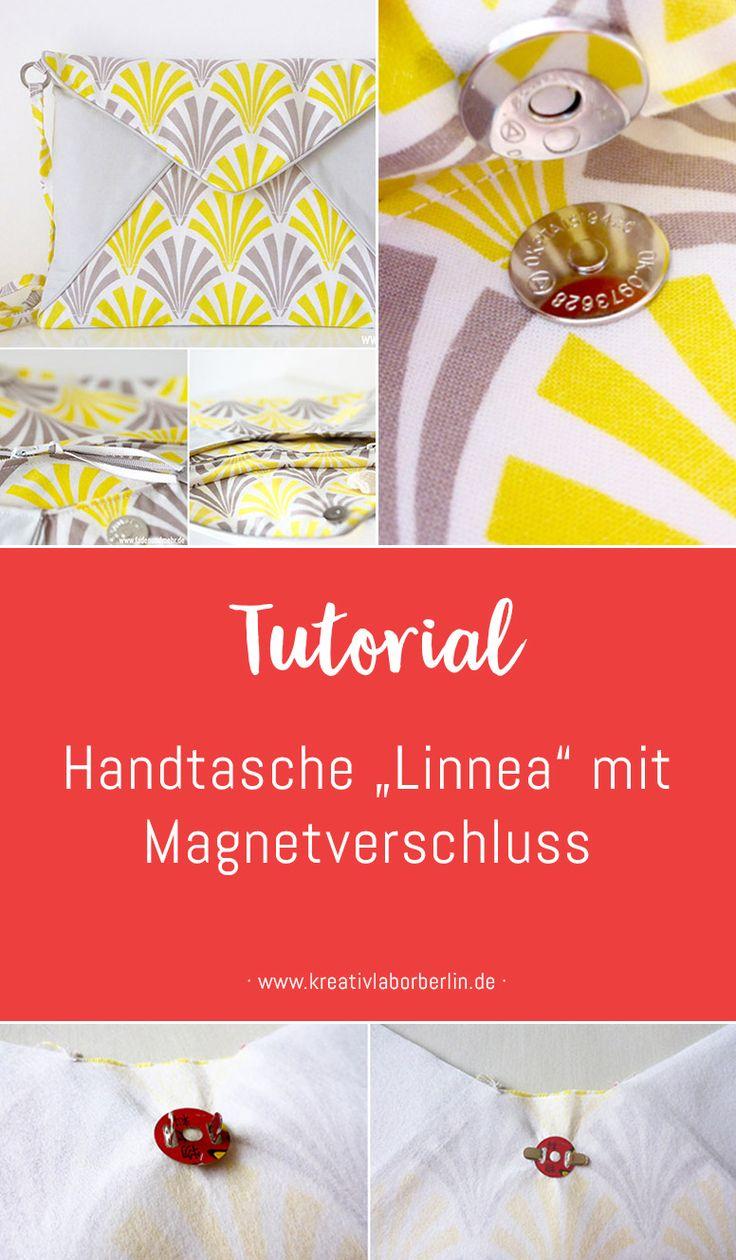 """Tutorial: Handtasche """"Linnea"""" mit Magnetverschluss"""
