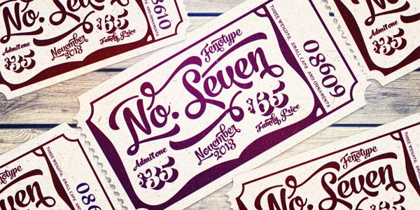 No. Seven Type Family by Emil Bertell, via Behance