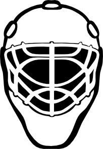 Goalie Mask Simple Outline clip art