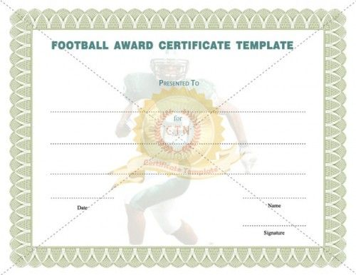 1000 images about award certificate template on pinterest for Football certificate templates