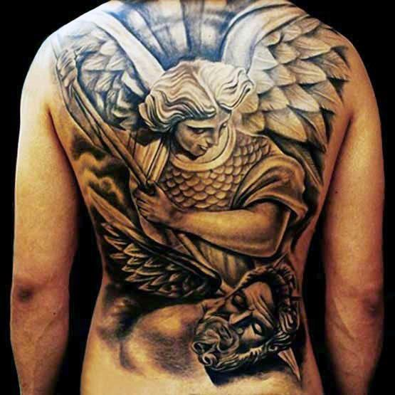 Men's Tribal Back Tattoos