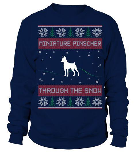 # Miniature Pinscher Through The Snow .  Miniature Pinscher Through The Snow