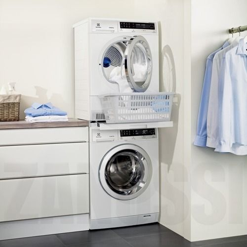 Dryer Stacking Kit with Shelf - this would mean we could lose the worktop and gain space in the laundry room.