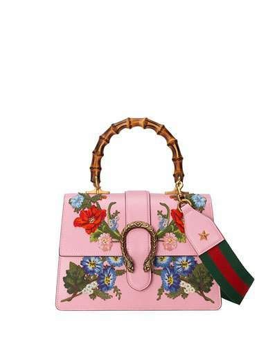 066655d9 Gucci Dionysus Small Embroidered Floral Satchel Bag, Pink