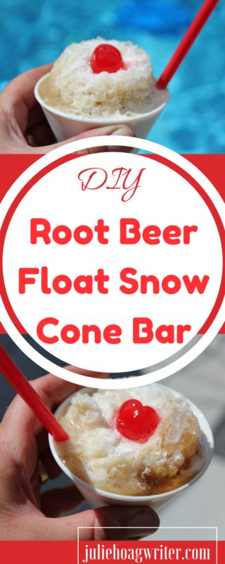 DIY Root Beer Float Snow Cone Bar. Non-alcoholic.…