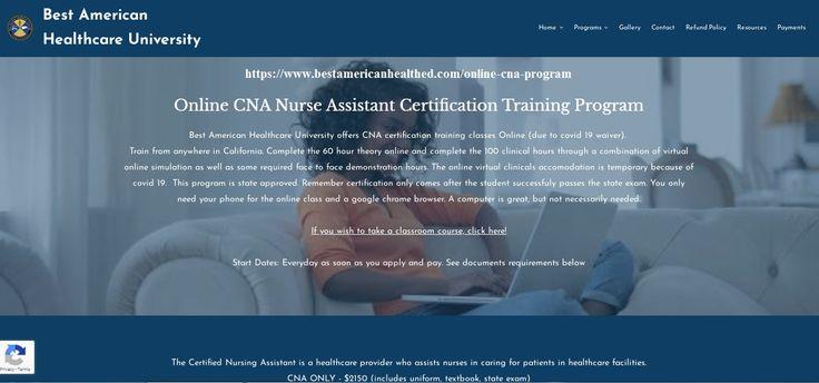 Pin on cna online classes ca