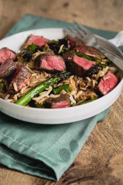 Beef teriyaki wokschotel - The answer is food