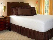 Envío gratis full twin queen king size color puro sin superficie de la cama elástica banda delantal falda de la cama cama de 45 cm altura colcha(China (Mainland))