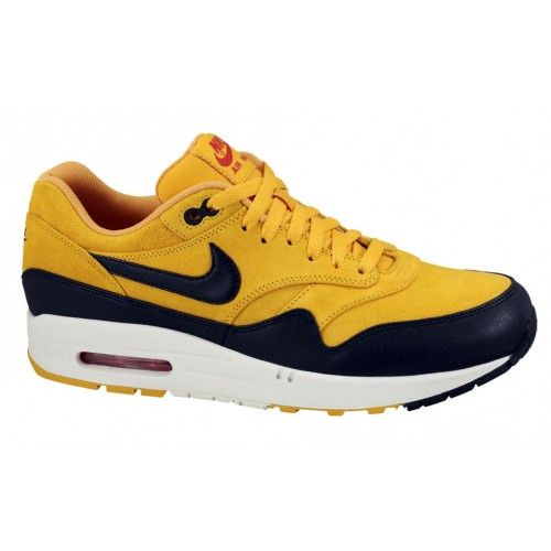 Nike Air Max 1 Premium Yellow Black Womens Shoes