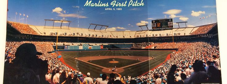 I had season tickets for the Marlins inaugural season in 1993. The Marlins beat the Dodgers in their first game. The games were played in Joe Robbie stadium at the time. The ballpark changed names several times