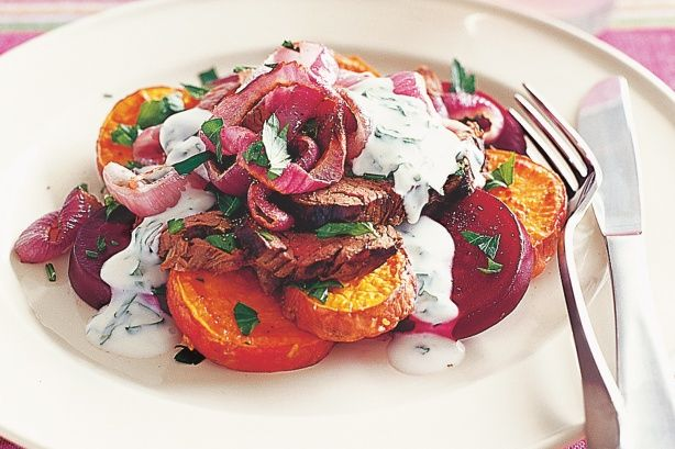 A healthy and hearty beef salad that tastes as delicious as it sounds.