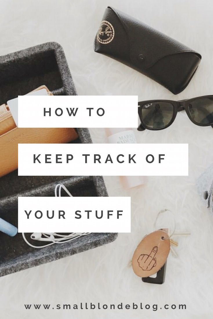 keep better track of your stuff + never leave the house without your wallet again // www.smallblondeblog.com
