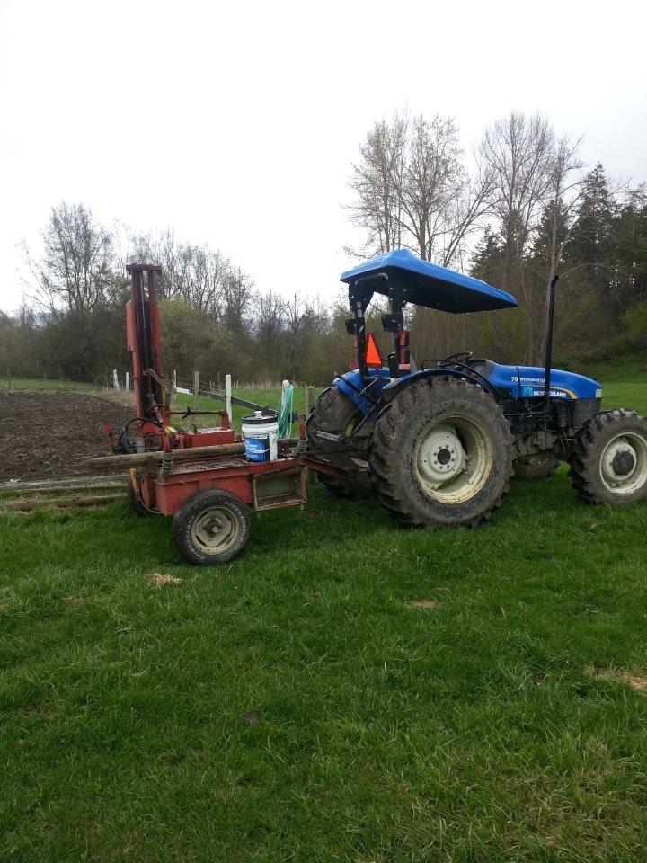 Repairing fences at McMillan Farms