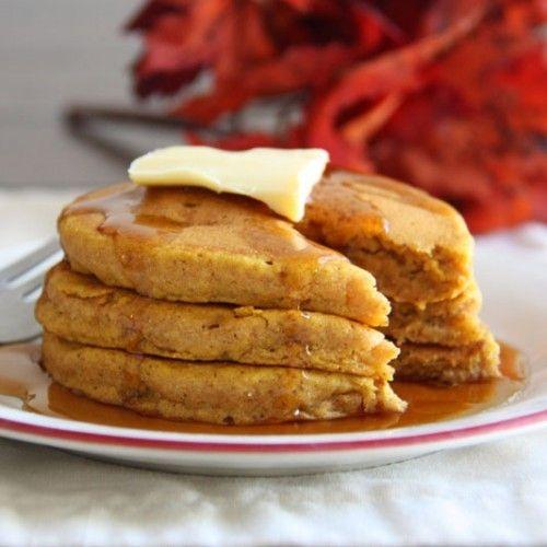 Whole Wheat Pumpkin Pancakes HealthyAperture.com