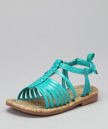 Take a look at this Turquoise Tumo Sandal by Carter's on #zulily today!