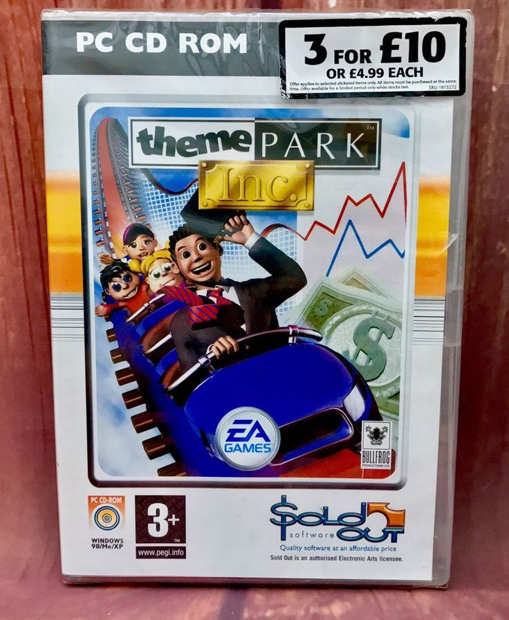 Pc Games Theme Park Inc New Sealed rollercoaster fairground over 200 rides games