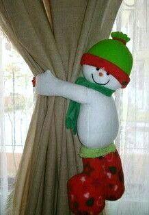 Mono de nieve cortina