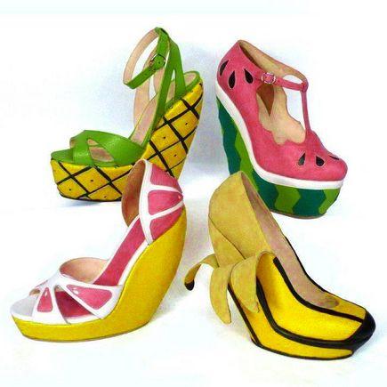 Fruit shoes. Budget Goddess loves fruits fashion bargains!  budgetgoddess.com