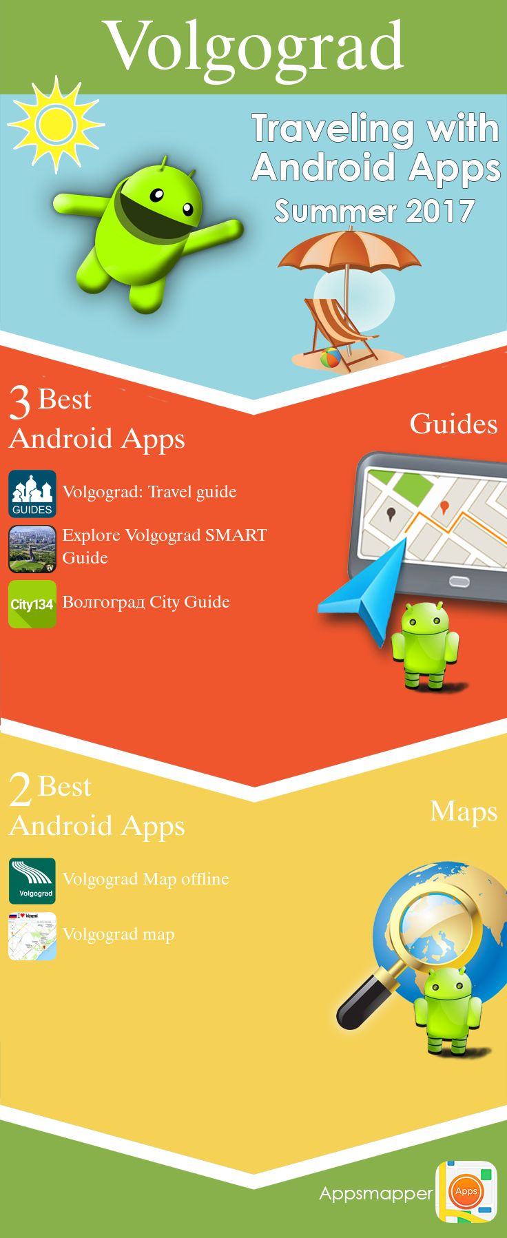 Volgograd Android apps: Travel Guides, Maps, Transportation, Biking, Museums, Parking, Sport and apps for Students.
