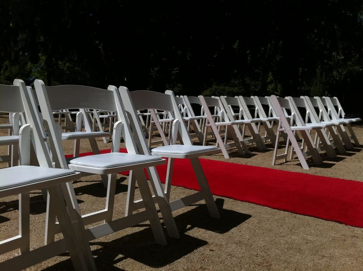 White Timber Folding Chairs
