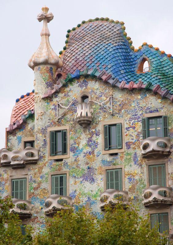The architectural marvel of Antoni Gaudi - Barcelona, Spain.