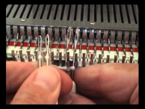 How to knit a cricketer's cable on the knitting machine. http://myknittingmachinesandme.wordpress.com
