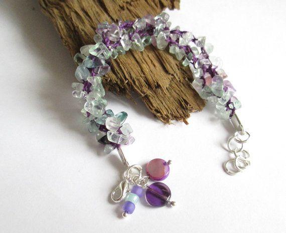 Purple Bracelet  Boho Bracelet  Funky Bracelet  by PinkBeading, £12.00