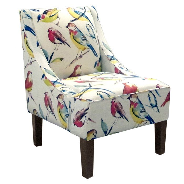 Printed accent chairs with arms dynasty accent chair gray for Funky armchairs